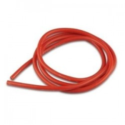 Cavo siliconico 12 AWG Rosso - 1 mt -