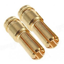 Ø 4 mm gold plated connector MALE ( 2pcs )