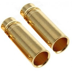 Ø 4 mm gold plated connector FAMALE ( 2pcs )